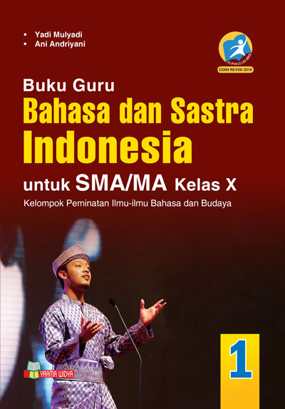 buku guru bahasa dan sastra Indonesia sma/ma kelas x