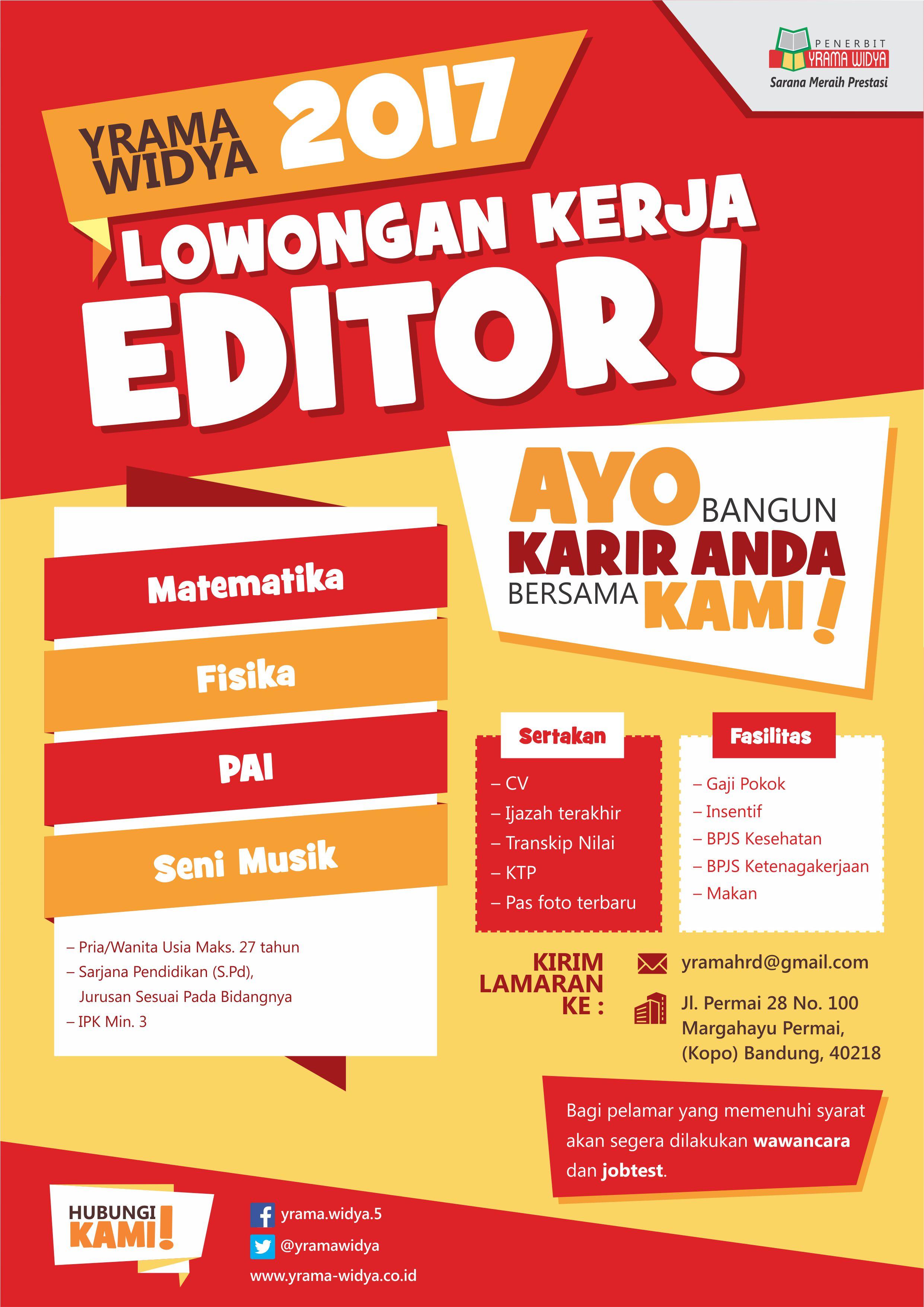 Lowongan Kerja Editor