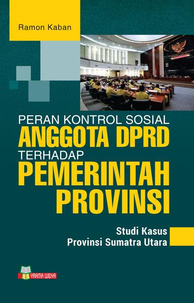 Buku peran kontrol sosial anggota dprd