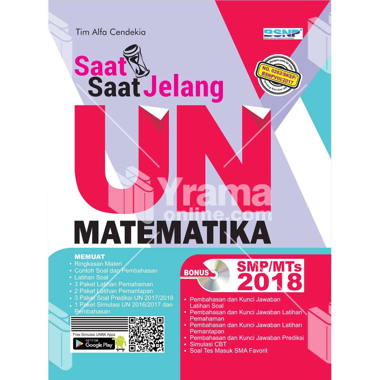 buku saat-saat jelang un matematika smp-mts 2018