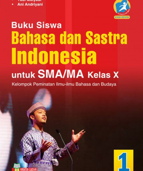 buku bahasa dan sastra indonesia sma/ma kelas x