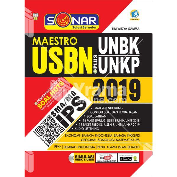 buku sonar maestro usbn plus unbk/unkp sma/ma ips 2019