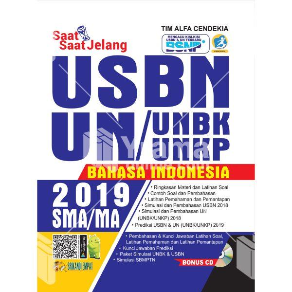 buku saat-saat jelang usbn unbk/unkp bahasa indonesia sma 2019