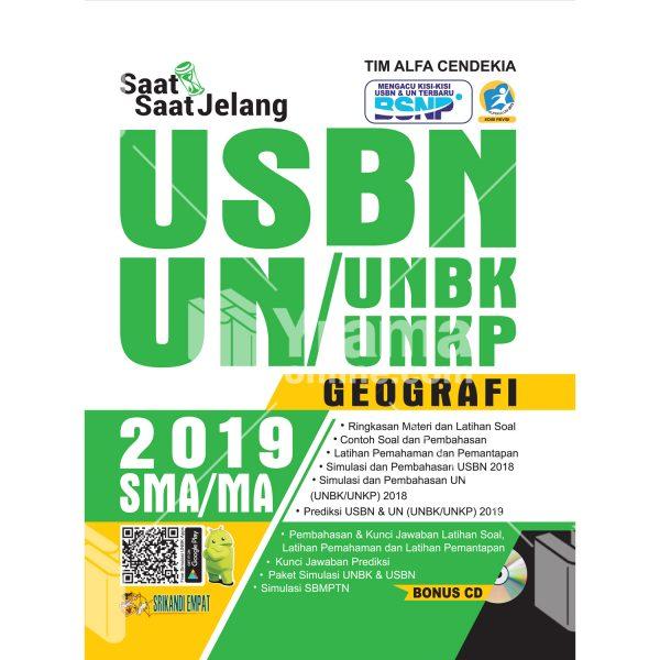 buku saat-saat jelang usbn unbk/unkp geografi sma 2019