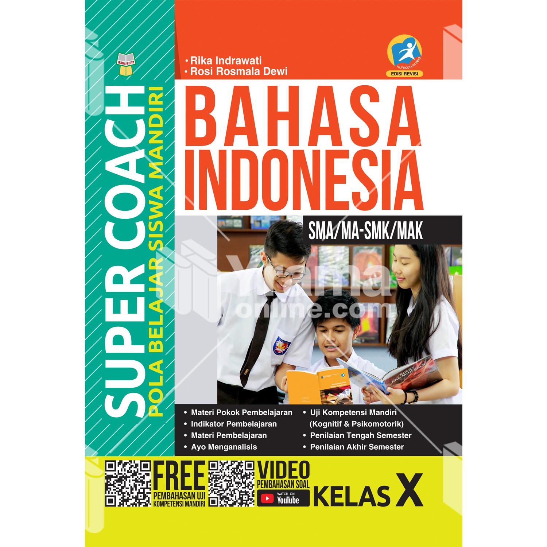 buku super coach bahasa indonesia sma/ma-smk/mak kelas x