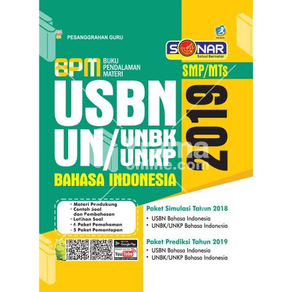 buku pendalaman materi usbn unbk/unkp bahasa indonesia smp 2019