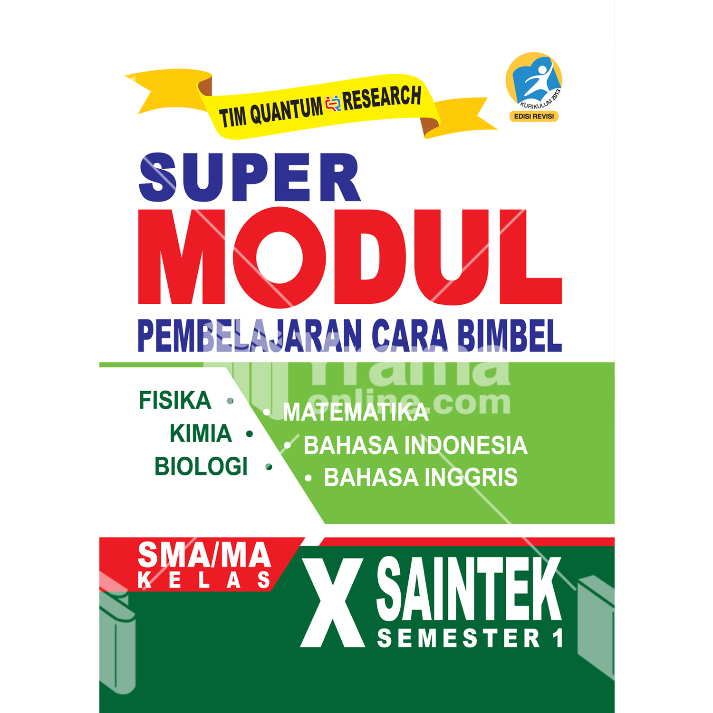 buku super modul sma/ma kelas x saintek semester 1