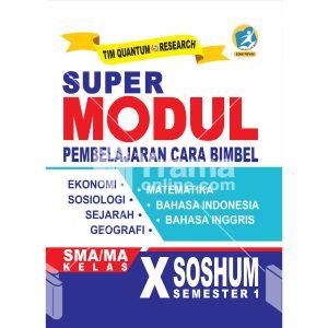 buku super modul sma/ma kelas x soshum semester 1