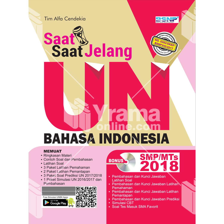 buku saat-saat jelang un bahasa indonesia smp-mts 2018