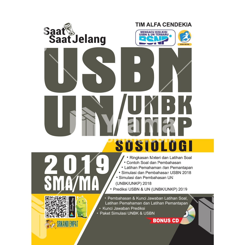 buku saat-saat jelang usbn unbk/unkp sosiologi sma 2019