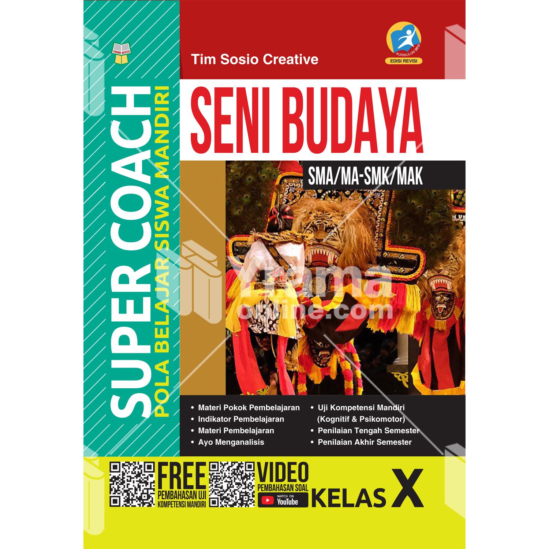buku super coach seni budaya sma/ma-smk/mak kelas x