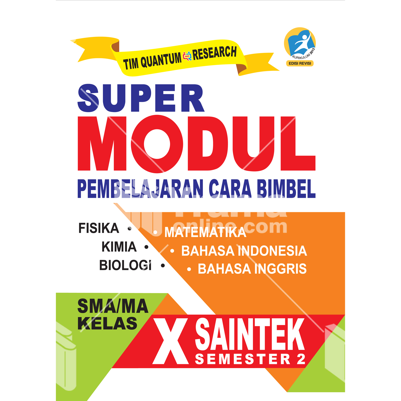 buku super modul sma/ma kelas x saintek semester 2