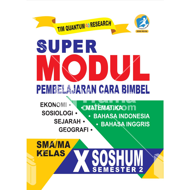 buku super modul sma/ma kelas x soshum semester 2